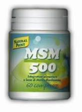 NATURAL POINT MSM 500 INTEGRATORE ALIMENTARE DI ZOLFO ORGANICO - 60 CAPSULE VEGETALI