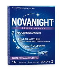 NOVANIGHT TRIPLA AZIONE MELATONINA 16 COMPRESSE