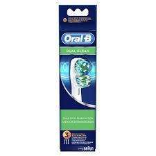 ORAL B testina di ricambio DUAL CLEAN 3 pezzi