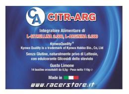 RACER CITR-ARG INTEGRATORE ALIMENTARE DI L-CITRULLINA L-ARGININA 14 BUSTE