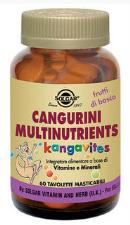 SOLGAR CANGURINI MULTINUTRIENTS 60 COMPRESSE MASTICABILI