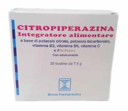 CITROPIPERAZINA - INTEGRATORE ALIMENTARE - 20 BUSTINE DA 7,5 G