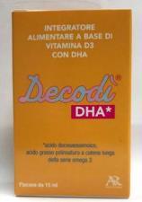 DECODI DHA INTEGRATORE ALIMENTARE A BASE DI VITAMINA D3 CON DHA FLACONE 15ml