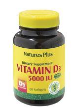 VITAMINA D3 5000 NATURE'S PLUS 60 CAPSULE